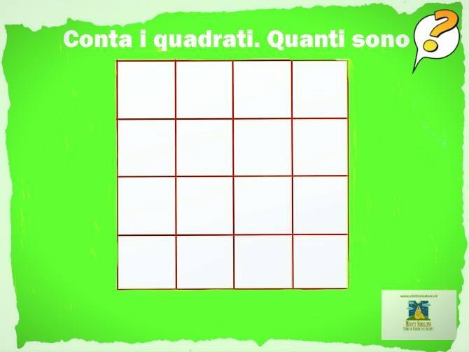 Conta i quadrati. Quanti sono?