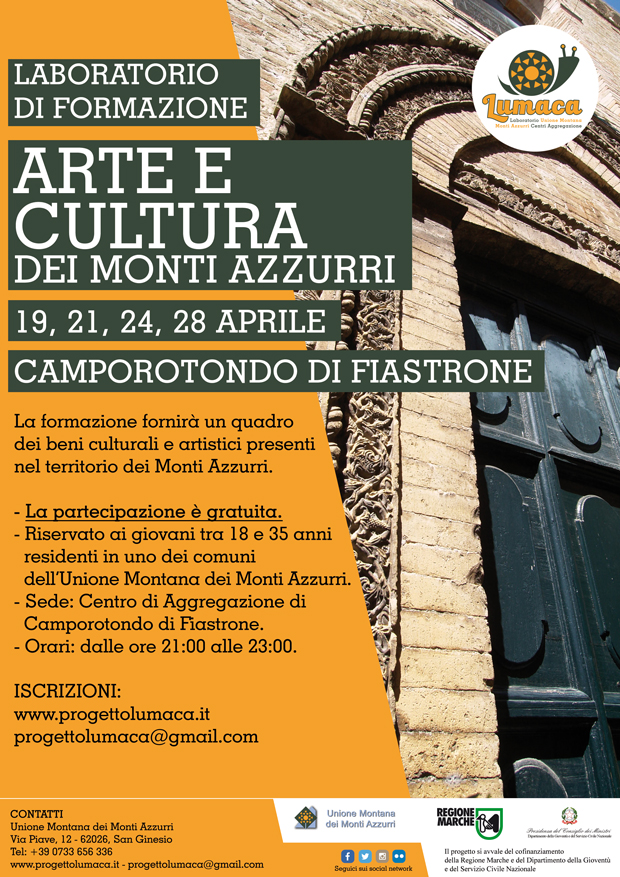 Corso gratuito su arte e cultura dei Monti Azzurri - Marche - Italia