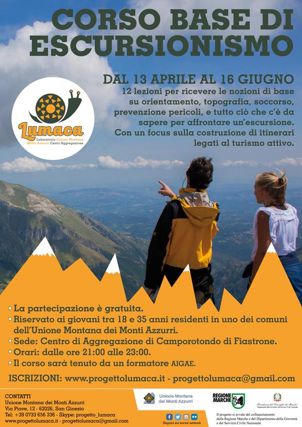 """Corso di base gratuito di """"Escursionismo"""" 2016"""